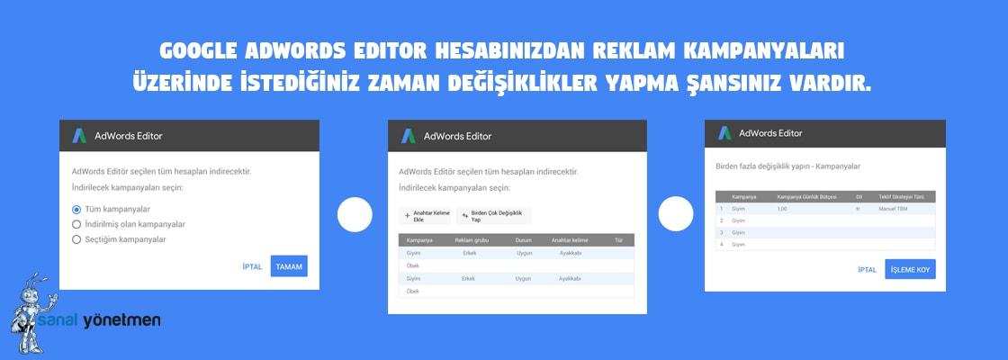 google adwords editor hesapta degisiklik yapma - Blog