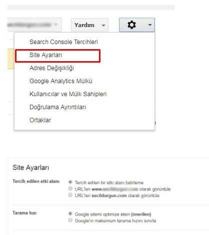 kisisel ayarların belirlenmesi - Google Search Console Nedir? Nasıl Kullanılır? [Kapsamlı Rehber]