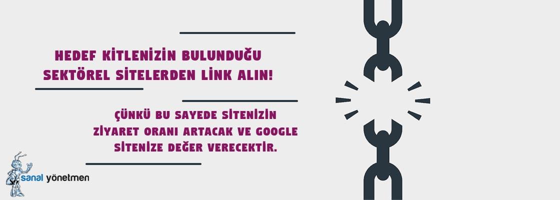 sektorel sitelerden link alin - Link İnşası Önerileri